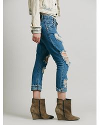 Free People Lonely Boy Destroyed Boyfriend - Lyst