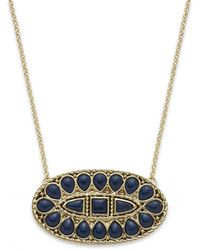 House Of Harlow Goldtone Cabochon Oval Pendant Necklace - Lyst
