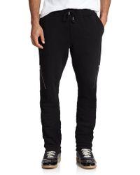 Diesel Cotton Zip Sweatpants black - Lyst