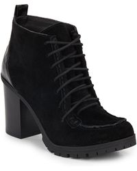 Circus by Sam Edelman - Denver Suede Lace-up Booties - Lyst