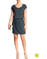 Banana Republic Factory Wrap-Skirt Dress - Lyst