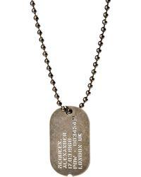 Alexander McQueen Necklace silver - Lyst