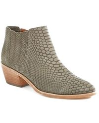 Joie 'Barlow' Snake Embossed Leather Bootie - Lyst