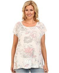 DKNY Plus Size Sketch Floral Lace Trim Tee - Lyst