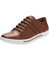 Kenneth Cole Captoe Leather Sneaker - Lyst