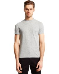 Kenneth Cole Reaction Nep Pocket T-Shirt gray - Lyst