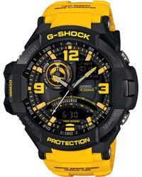 G-Shock Men'S Analog-Digital Yellow Resin Strap Watch 51X52Mm Ga1000-9B - Lyst