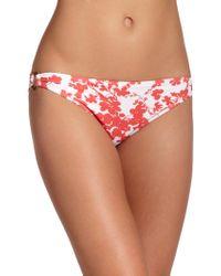 Shoshanna Beach Vines Halter Bikini Top red - Lyst