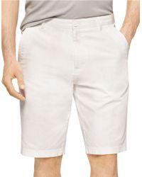 Calvin Klein Bedford Chino Shorts white - Lyst