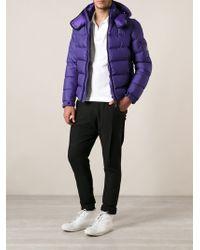 Moncler Purple Padded Jacket - Lyst
