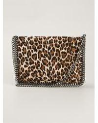 Stella McCartney 'Falabella' Leopard Crossbody Bag - Lyst