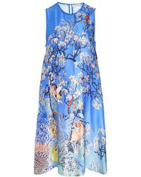 Mary Katrantzou Evabar A-Line Dress blue - Lyst