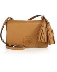 bb63d095d3c Tory Burch - Thea Mini Leather Tassel Crossbody Bag - Lyst