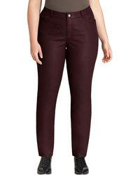 Lafayette 148 New York Curvy Waxed Slim-leg Jeans - Lyst