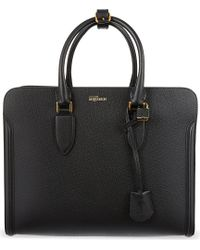 Alexander McQueen Heroine Open Grained Leather Tote - Lyst