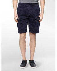 Calvin Klein Jeans Camouflage Cotton Shorts blue - Lyst