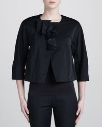 Donna Karan New York Collarless Jacket - Lyst