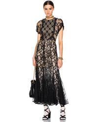 Alessandra Rich | Patchwork Lace Dress | Lyst
