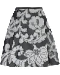 Giles Silver Jacquard Flared Fiore Skirt - Lyst
