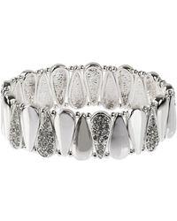 Nine West - Raindrops Silver Crystal Bracelet - Lyst