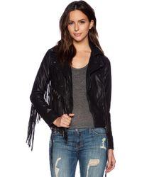 Blank - Fringe Moto Jacket - Lyst