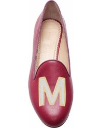 Charlotte Olympia   Calf Leather Magenta Abc Flats   Lyst