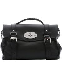 Mulberry Black Leather 'Alexa' Convertible Top Handle Bag - Lyst