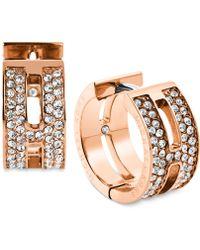 Michael Kors H Huggie Hoop Earrings pink - Lyst