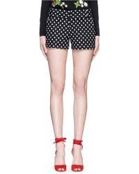 Alice + Olivia | 'cady' Polka Dot Jacquard Shorts | Lyst