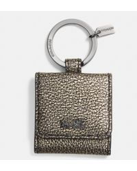 Coach Metallic Leather Picture Frame Key Ring - Lyst