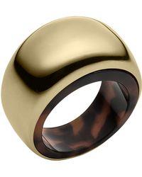 Michael Kors Goldtone Tortoise Ring - Lyst