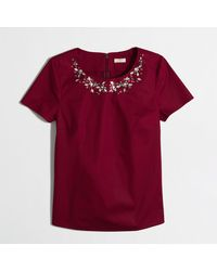 J.Crew Factory Jeweled Necklace Top - Lyst