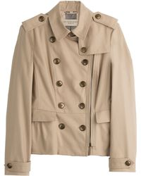 Burberry Brit Brookleigh Cotton Trench Jacket - Lyst
