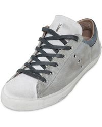 Crime Washed Leather Sneakers - Lyst