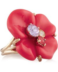 Nina Ricci - Goldtone Resin and Crystal Ring - Lyst