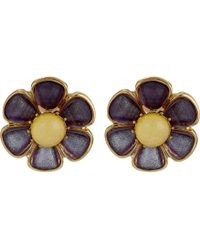 Betsey Johnson | Spring Ahead Flower Clip On Earrings | Lyst