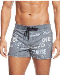 Diesel Logo Swim Shorts - Lyst