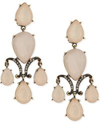 R.j. Graziano - Triple Drop Chandelier Earrings - Lyst