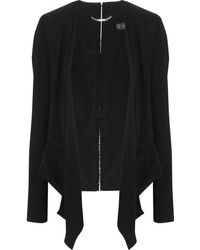Versace Embellished Stretch-silk and Woven Blazer - Lyst
