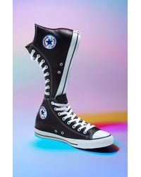 Converse Chuck Taylor All Star Leather High Top Sneaker black - Lyst