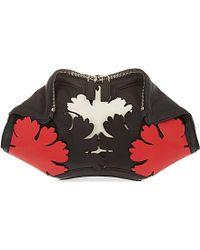 Alexander McQueen De Manta Floral Clutch Bag - For Women black - Lyst