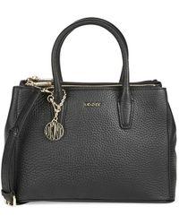 DKNY Tumbled Leather Shoulder Bag - Lyst