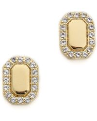 Elizabeth and James -  Gold White Topaz Torrens Earrings - Lyst
