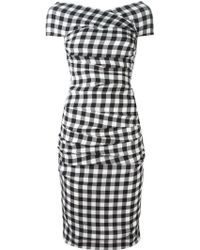 Dolce & Gabbana Black Checked Dress - Lyst