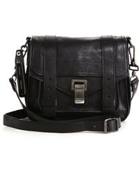 Proenza Schouler Ps1 Pouch Leather Crossbody Bag black - Lyst