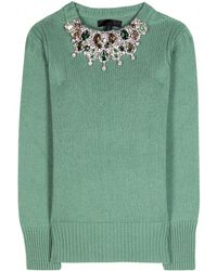 Burberry Prorsum - Embellished Cashmere Sweater - Lyst