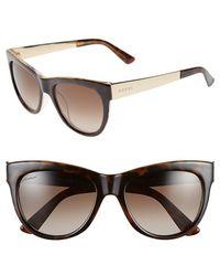 Gucci 'Flora' 55Mm Retro Sunglasses brown - Lyst