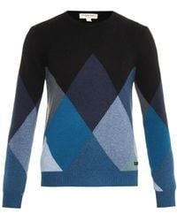 Burberry London Northway Argyle Cashmere Sweater - Lyst