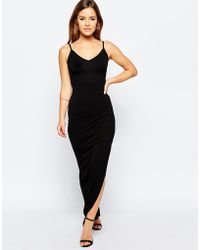 ASOS | Bodycon Maxi Dress With Strappy Back | Lyst
