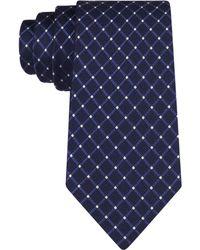 Michael Kors Michael Tonal Texture Grid Tie - Lyst